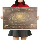 Milky Way Nebula Map Vintage Kraft Paper Poster Painting Wall Stickers 72.5X48.5cm