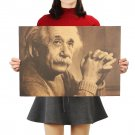 Imagination is More Important Than Knowledge Albert Einstein Retro Kraft Paper Poster 51x36cm
