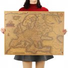 1570 Years Old Europe Map Poster Classic Vintage Retro Paper Craft Poster 69X51cm