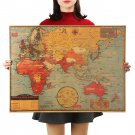 Large World Geography Map Wall Sticker Art Home Decoration Wall Sticker Poster 70X51.5cm