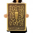 Vintage Style Poster Wall Sticker Beer Figure Decoration Kraft Paper Poster 51.5X36cm