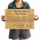 Periodic Table Of Beer Retro Kraft Paper Poster Vintage Wall Sticker Living Room Posters 42x30cm