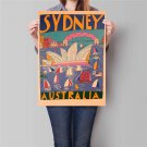 Sydney City Landscape Poster Hand Painted Trip Drawing Wall Art Sticker Poster 42x30cm