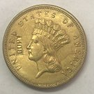 United Stated 1888 Liberty Head Three Dollars Gold Copy Coin