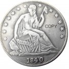 US 1840 Seated Liberty Half Dollars Copy Coin