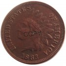 US 1863 Indian Head One Cent Copper Copy Coins