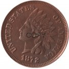 US 1872 Indian Head One Cent Copper Copy Coins