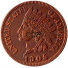 US 1905 Indian Head One Cent Copper Copy Coins