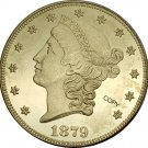 US 1879 Liberty Head Twenty Dollars Brass Copy Coins