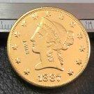 US 1887 Liberty Head Ten Dollars Copy Coin