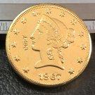 US 1867-S Liberty Head Ten Dollars Copy Coin