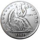 US 1841 Seated Liberty Half Dollars Copy Coin