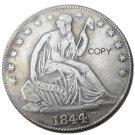 US 1844 Seated Liberty Half Dollars Copy Coin