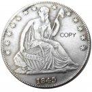 US 1845 Seated Liberty Half Dollars Copy Coin