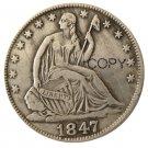 US 1847 Seated Liberty Half Dollars Copy Coin