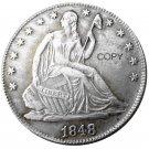 US 1848 Seated Liberty Half Dollars Copy Coin