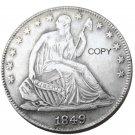 US 1849 Seated Liberty Half Dollars Copy Coin