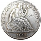 US 1851 Seated Liberty Half Dollars Copy Coin
