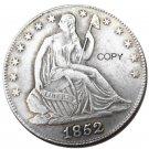 US 1852 Seated Liberty Half Dollars Copy Coin