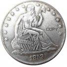 US 1853 Seated Liberty Half Dollars Copy Coin