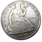 US 1856 Seated Liberty Half Dollars Copy Coin