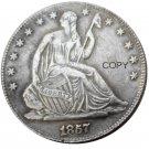 US 1857 Seated Liberty Half Dollars Copy Coin
