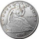 US 1858 Seated Liberty Half Dollars Copy Coin