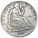 US 1862 Seated Liberty Half Dollars Copy Coin