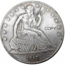 US 1863 Seated Liberty Half Dollars Copy Coin