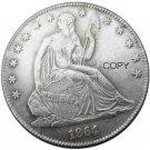 US 1864 Seated Liberty Half Dollars Copy Coin