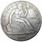 US 1865 Seated Liberty Half Dollars Copy Coin