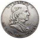 US 1956 Franklin Half Dollar Copy Coin