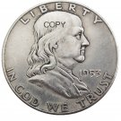 US 1953 Franklin Half Dollar Copy Coin