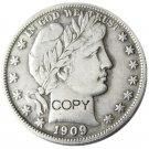 US 1909 Barber Half Dollar Copy Coin