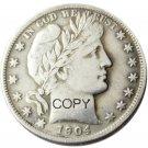 US 1904 Barber Half Dollar Copy Coin