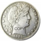 US 1901 Barber Half Dollar Copy Coin