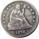 USA 1878 Seated Liberty Quarter Dollars 25 Cent Copy Coin