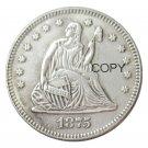 USA 1875 Seated Liberty Quarter Dollars 25 Cent Copy Coin