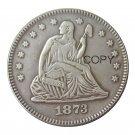 USA 1873 Seated Liberty Quarter Dollars 25 Cent Copy Coin