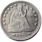 USA 1873 Arrows Seated Liberty Quarter Dollars 25 Cent Copy Coin