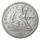 USA 1871 Seated Liberty Quarter Dollars 25 Cent Copy Coin