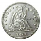 USA 1870 Seated Liberty Quarter Dollars 25 Cent Copy Coin