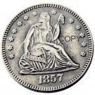 USA 1857 Seated Liberty Quarter Dollars 25 Cent Copy Coin