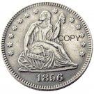 USA 1856 Seated Liberty Quarter Dollars 25 Cent Copy Coin
