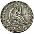 USA 1855 Seated Liberty Quarter Dollars 25 Cent Copy Coin