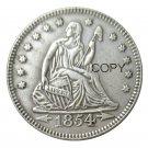 USA 1854 Seated Liberty Quarter Dollars 25 Cent Copy Coin