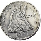 USA 1851 Seated Liberty Quarter Dollars 25 Cent Copy Coin