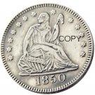 USA 1850 Seated Liberty Quarter Dollars 25 Cent Copy Coin