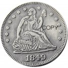 USA 1849 Seated Liberty Quarter Dollars 25 Cent Copy Coin