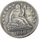 USA 1848 Seated Liberty Quarter Dollars 25 Cent Copy Coin